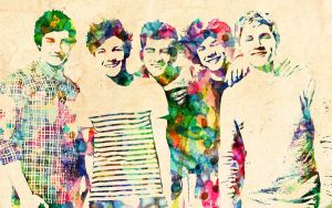 One Direction: Watercolor Effect by ElijahVD
