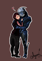 Garrus and Shepard by Risu-ruru