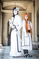Ulquiorra and Orihime by cloeth