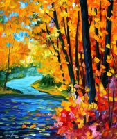 Sounds Of The Fall by Leonid Afremov by Leonidafremov