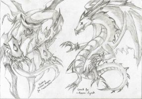 Free Dragon Sketches 03 by LightEndDragon