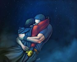 Hug - Superboy x RedRobin by Cris-Art