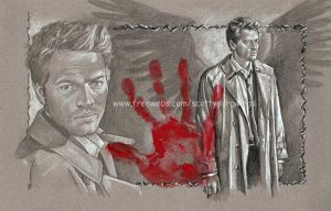 WIP2 Castiel The Hand Of God by scotty309