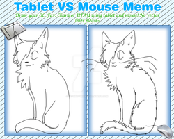 Tablet VS Mouse [meme] by PsychoTyrer