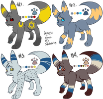 Umbreon Adoptables (CLOSED) by Angiebutt