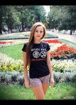 You will never beat us t-shirt - model Klaudia by N4020
