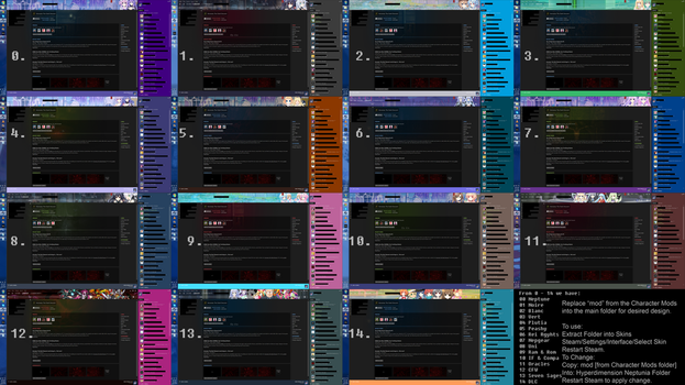 Hyperdimension Neptunia Steam Theme Pack by The-Role-Player