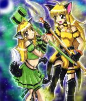 Mew Lemon vs Mew Green Apple by ellana