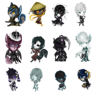 Troll Chibi Set by Izhin