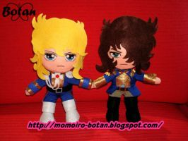 chibi Oscar and Andre' plush version by Momoiro-Botan