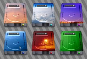 Hard Drive Icons by CitizenJustin