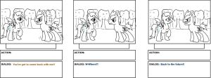 My Little Pony: BTTF storyboard page 3 by ToMaz777