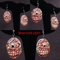Zombie earrings by Undead-Art