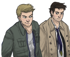 dean and castiel by Vasheren