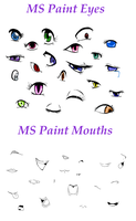 MS Paint Eyes and Mouths by KelseyZ