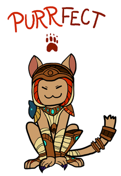 Smite - Purrfect (Chibi) by Zennore