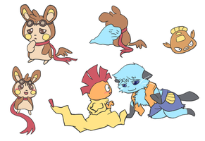 Team TAZR and fanart by chibiphlosion