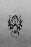 Wolf Clan logo - Gray Grunge WP by drouell