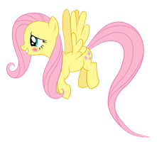 Blushing Fluttershy by Proenix
