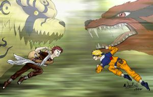 Gaara VS Naruto by noot