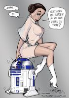 Leia and R2 ...Toy compartment by powerbook125