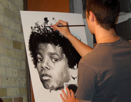 Michael Jackson - Live Drawing 3 by Flashback33