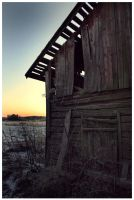 Corner of a barn by Skycode