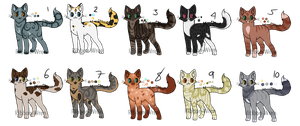 Cat Adopts 8 [1/10 OPEN] by RibbonWren-Adopts