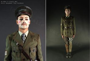 Oh What A Lovely War: Drill Sergeant Costume by FAshi0nAblii-LAt3