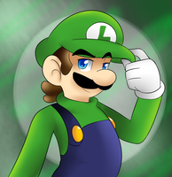 Awesome luigi by Whitegriphon1212