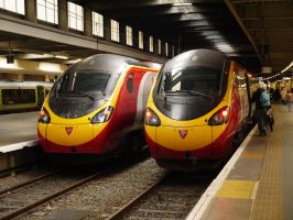 Virgin Trains Class 390's at London Euston by The-Transport-Guild