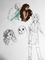 Selkie Sketches by CaribbeanMouse