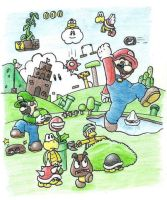 Super Mario Bros. by minimariodrawer