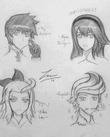 Bravely Default Character Sketches by ExusiaSword