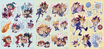 YuGiOh! Stickers SET by PhuiJL
