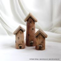 3 Rustic Houses of tiny fairies by vavaleff