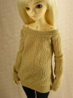 Tan Shirt for MSD BJD by guppykisses