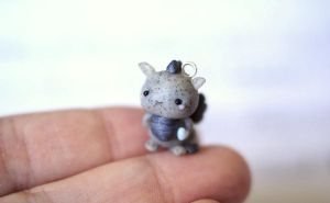 Tiny Gray Dragon Charm by ChloeeeeLynnee97