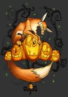Halloween Fox by Midsea