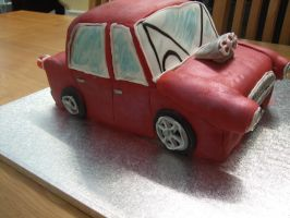 Ford Cortina MK 1 Hotrod Cake by superspy6