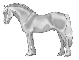 Welsh Cob Greyscale (Free) by HBPtje