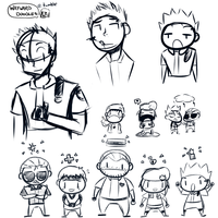 Resident Evil Sketch Jam by WaywardDoodles