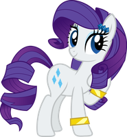 EqG Ponified Rarity by Rustle-Rose