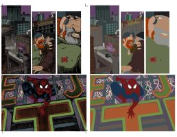 spiderman page FLATS by jotazombie