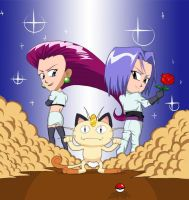 Chibi Team Rocket by Rafilsks