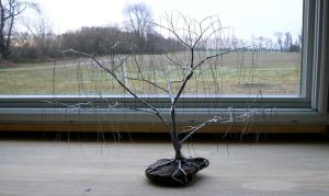 Completed Wire Weeping Willow by bigbadbiologist