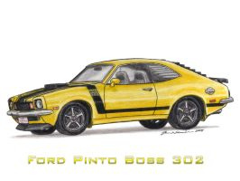 Ford Pinto Boss 302 by wannabemustangjockey