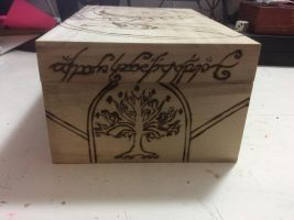 Lord of the Rings wooden box (side 2) by Grimfiendfyre