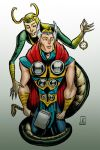 Loki and Thor by cabepfir