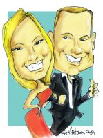 couple caricature by sketchoo